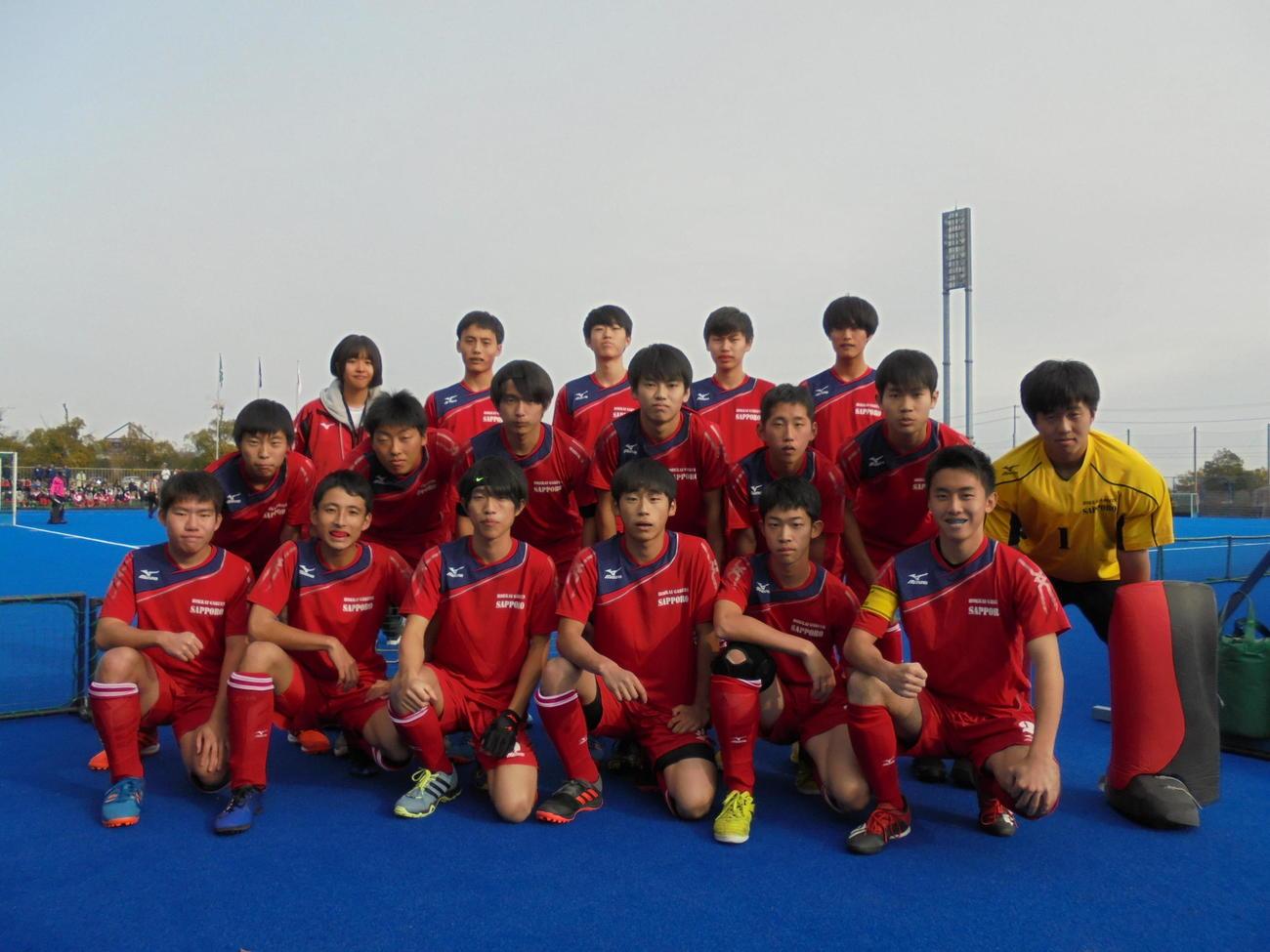昨年12月に全国高校選抜に出場した北海学園札幌の現選手たち