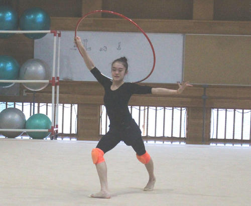 Photo of Rhythmic Gymnastics Jun Suzu Kida Exercise Opening Aiming to Acquire Second Olympic Frame