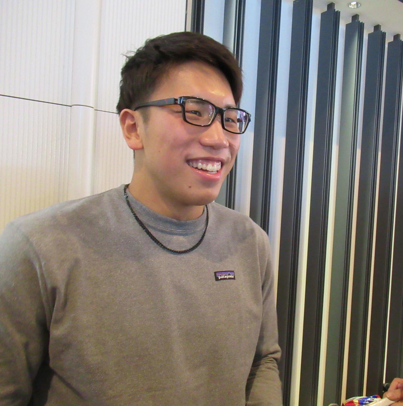 松元は、米高地合宿で「進化(か)つお」になることを宣言した(撮影・益田一弘)