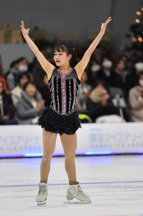 Photo of Aina Kawabe 8th: First success with three and a half rounds free