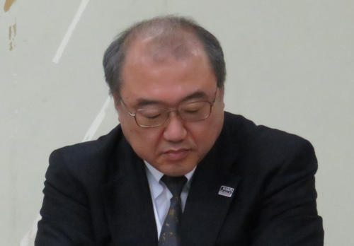 Photo of Nakamura, Managing Director of Zenjuren, is infected.