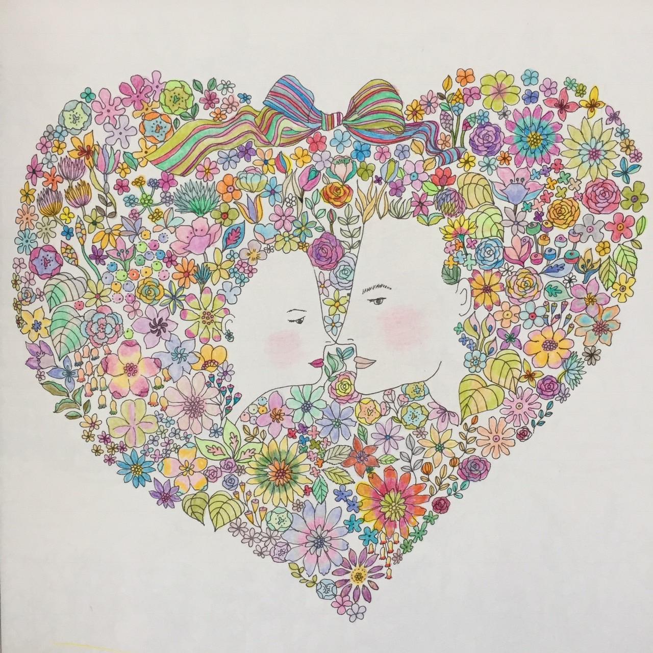 浅田さん作成の「おとなの塗り絵」