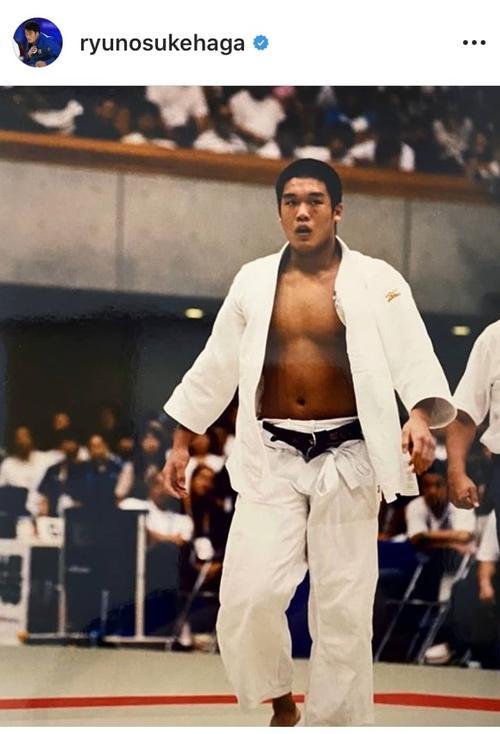 "Photo of Ryunosuke Haga, Judo ""Anyway Before"" Words for high school students"