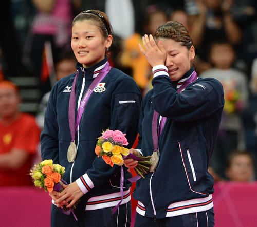 Photo of フジカキが銀 オグシオに憧れペア/日本の初メダル