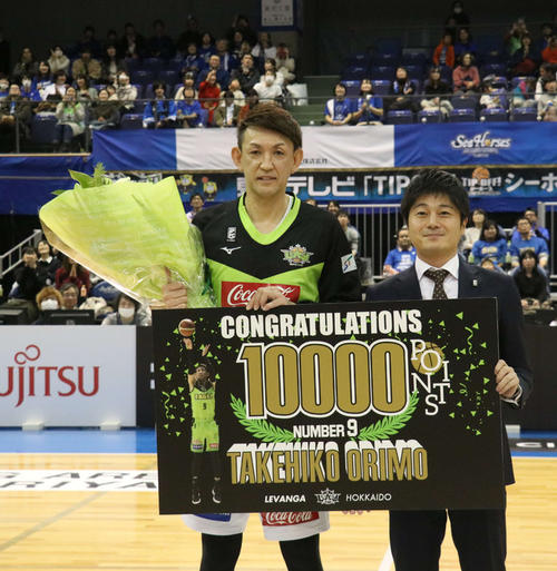 """Photo of """"Speaking of basketball is Orimo,"""" Mr. Kawabuchi, thanks for all the effort"""