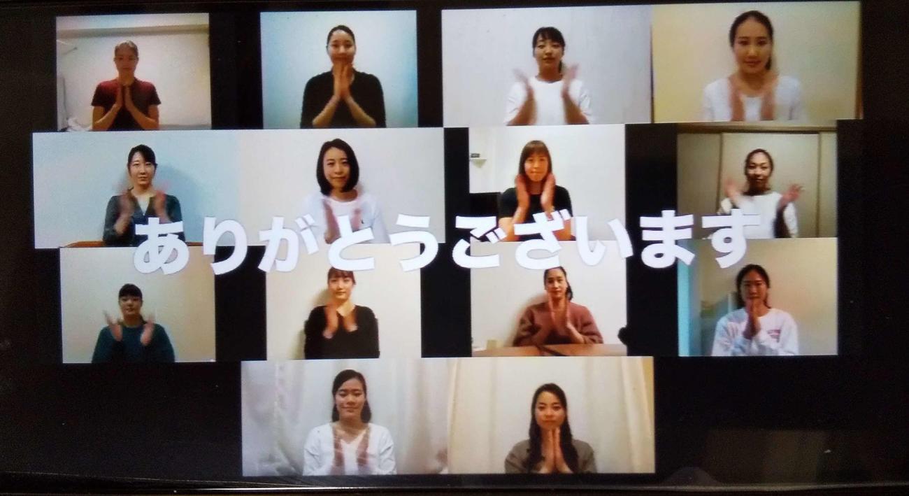 アーティスティックスイミング日本代表は、動画で医療従事者への感謝の気持ちを口にした