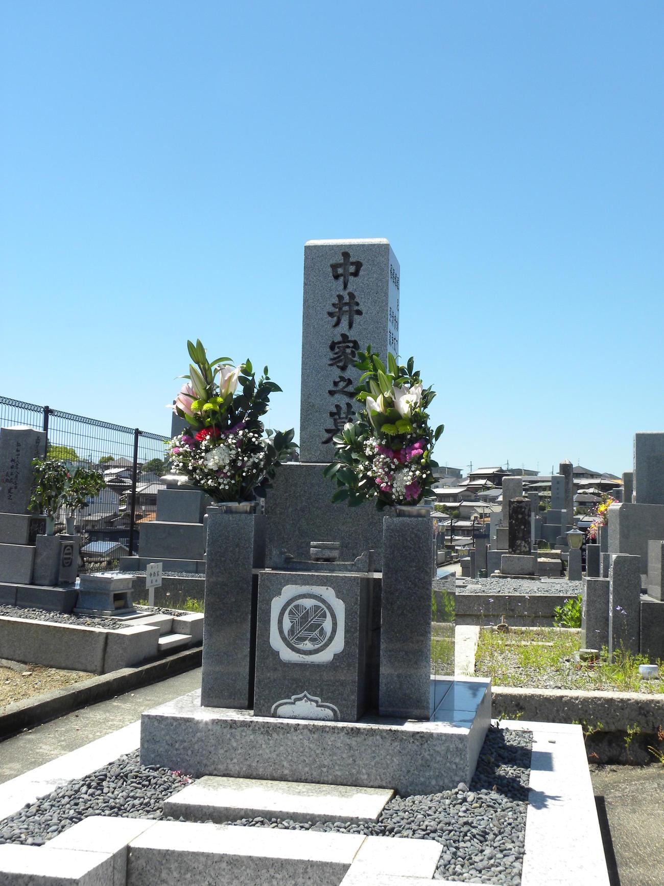 中井太喜さんは故郷である枚方市内の墓で眠っている