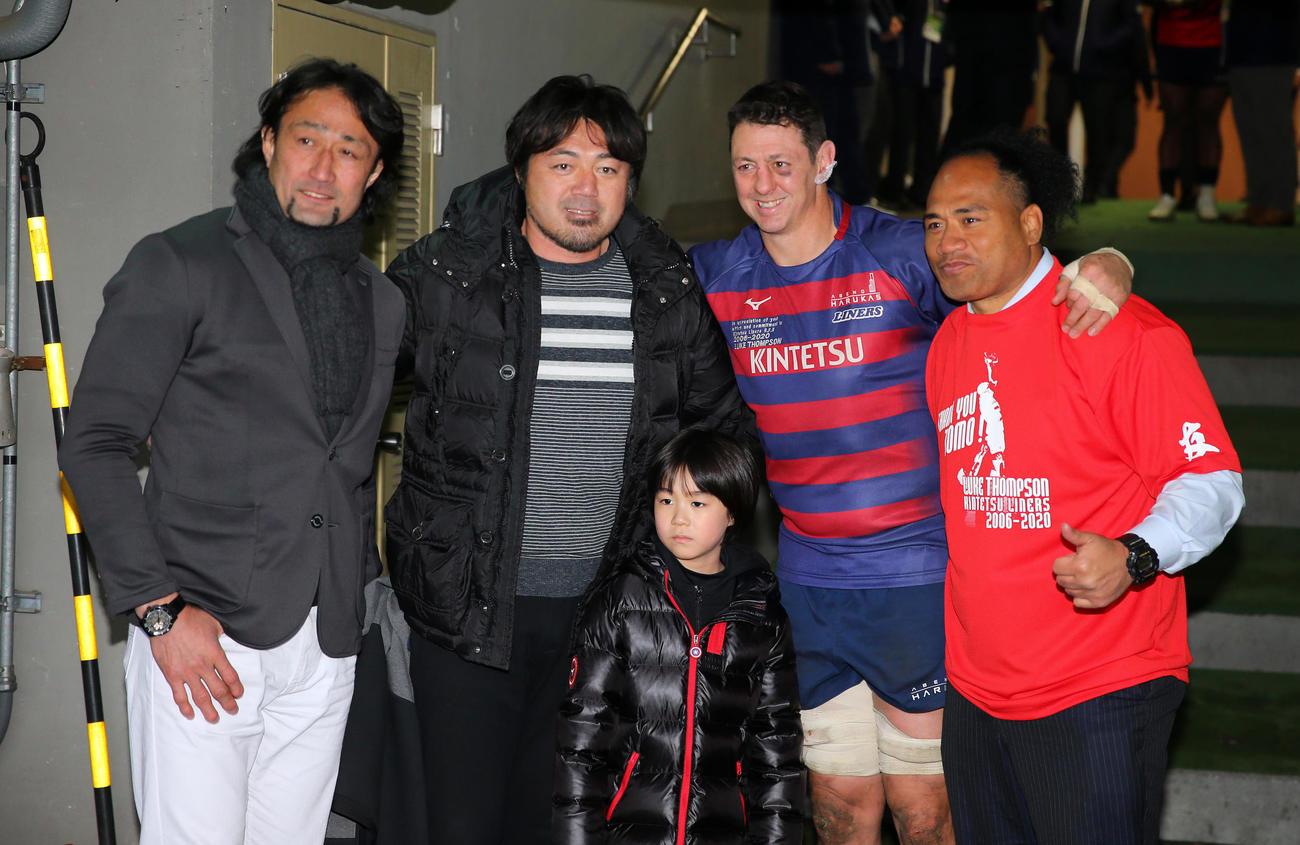 左から大野氏、箕内氏、トンプソン、タウファ氏(2020年1月19日撮影)