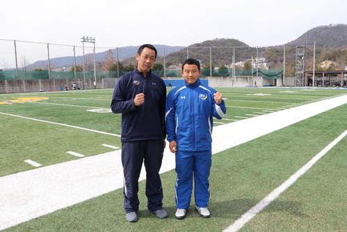 Photo of American football Seki University and Ritsumei University, team practice restart after June