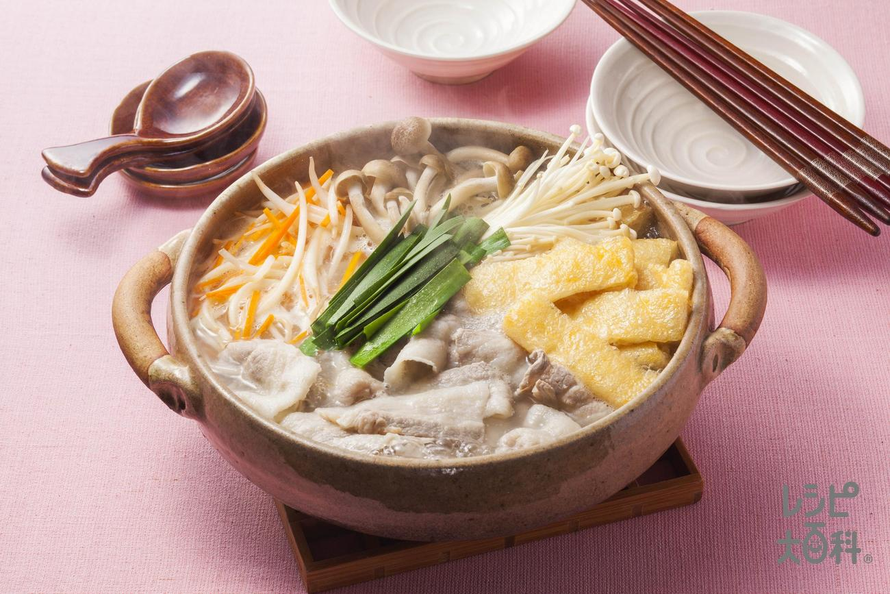 味の素VPが日刊スポーツに7日連続で提供する特別レシピ。初日は「豚もやしの鶏だし鍋」