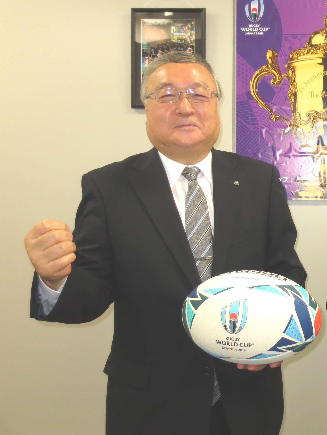 県ラグビー協会の相談役に就任した吉林章仁氏