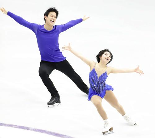 Photo of Riku Miura, Ryuichi Kihara as a figure pair reinforced player
