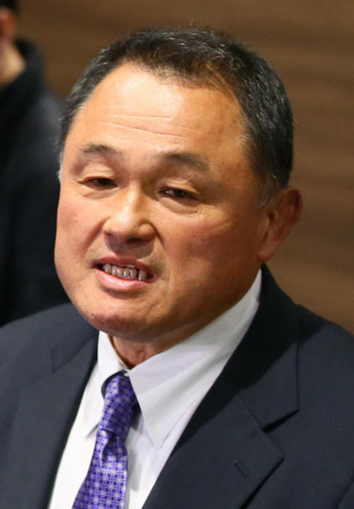 "Photo of Chairman Yamashita ""Bright Topics"" Helps with sports in the area affected by heavy rain"