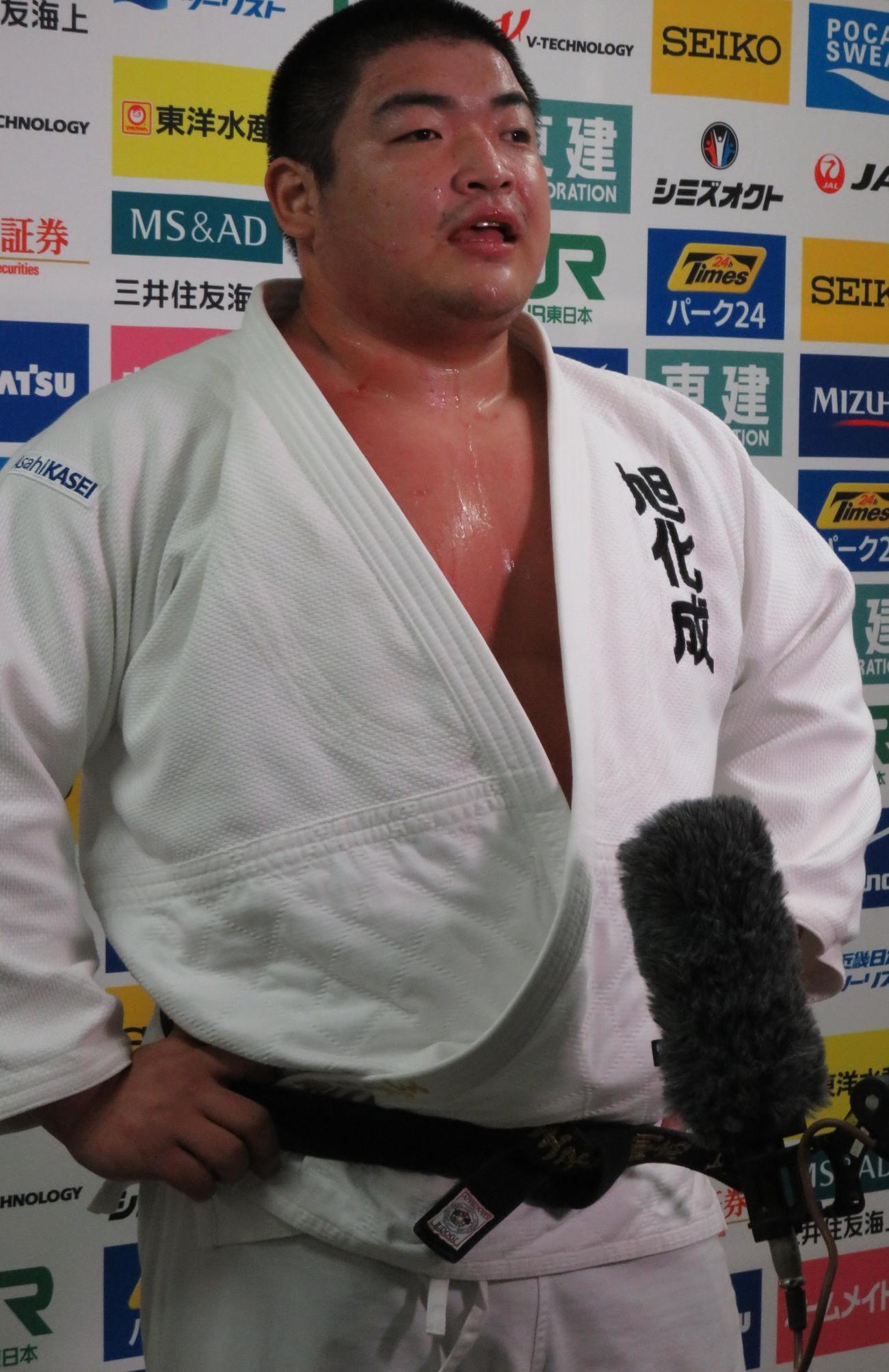 丸坊主頭で全日本選手権に臨んだ王子谷剛志(19年4月29日)