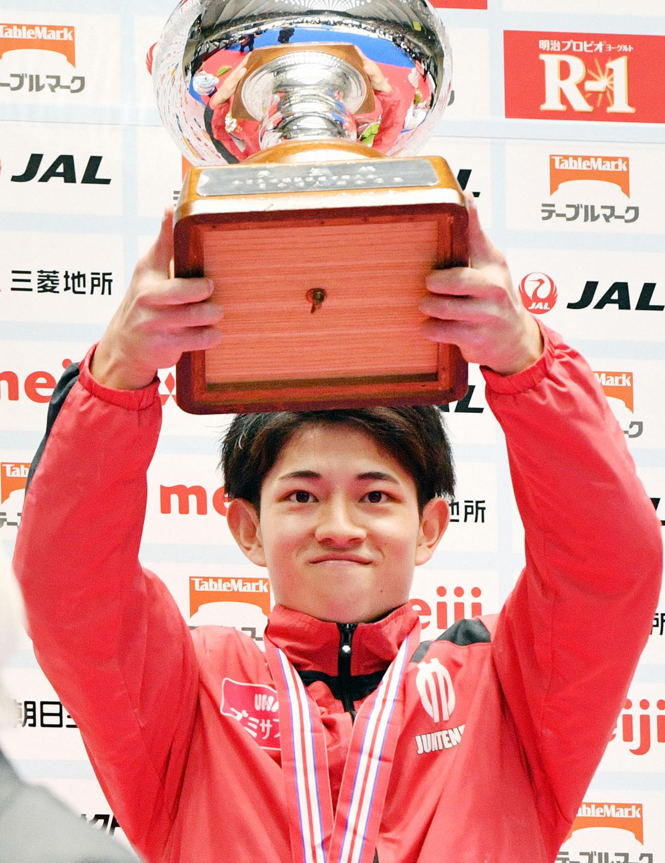 昨年の体操全日本選手権・男子個人総合で2連覇を達成した谷川翔(2019年4月28日撮影)
