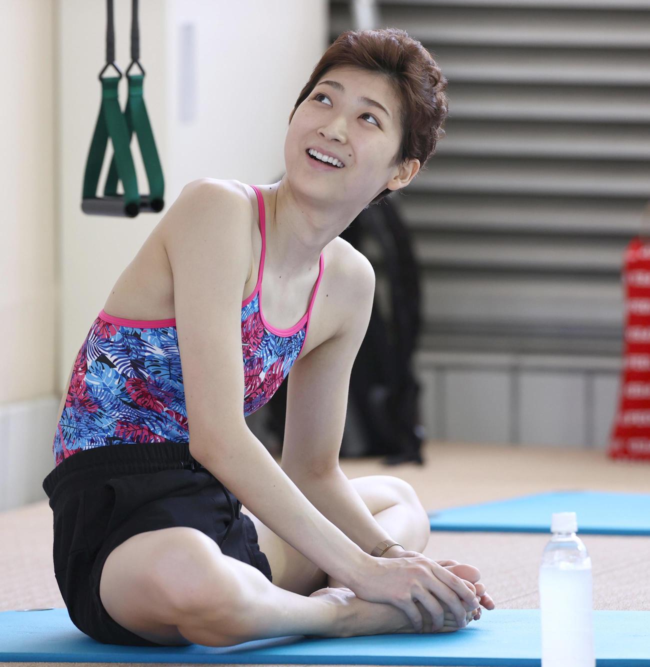 都内で練習を公開した池江璃花子(20年7月2日代表撮影)