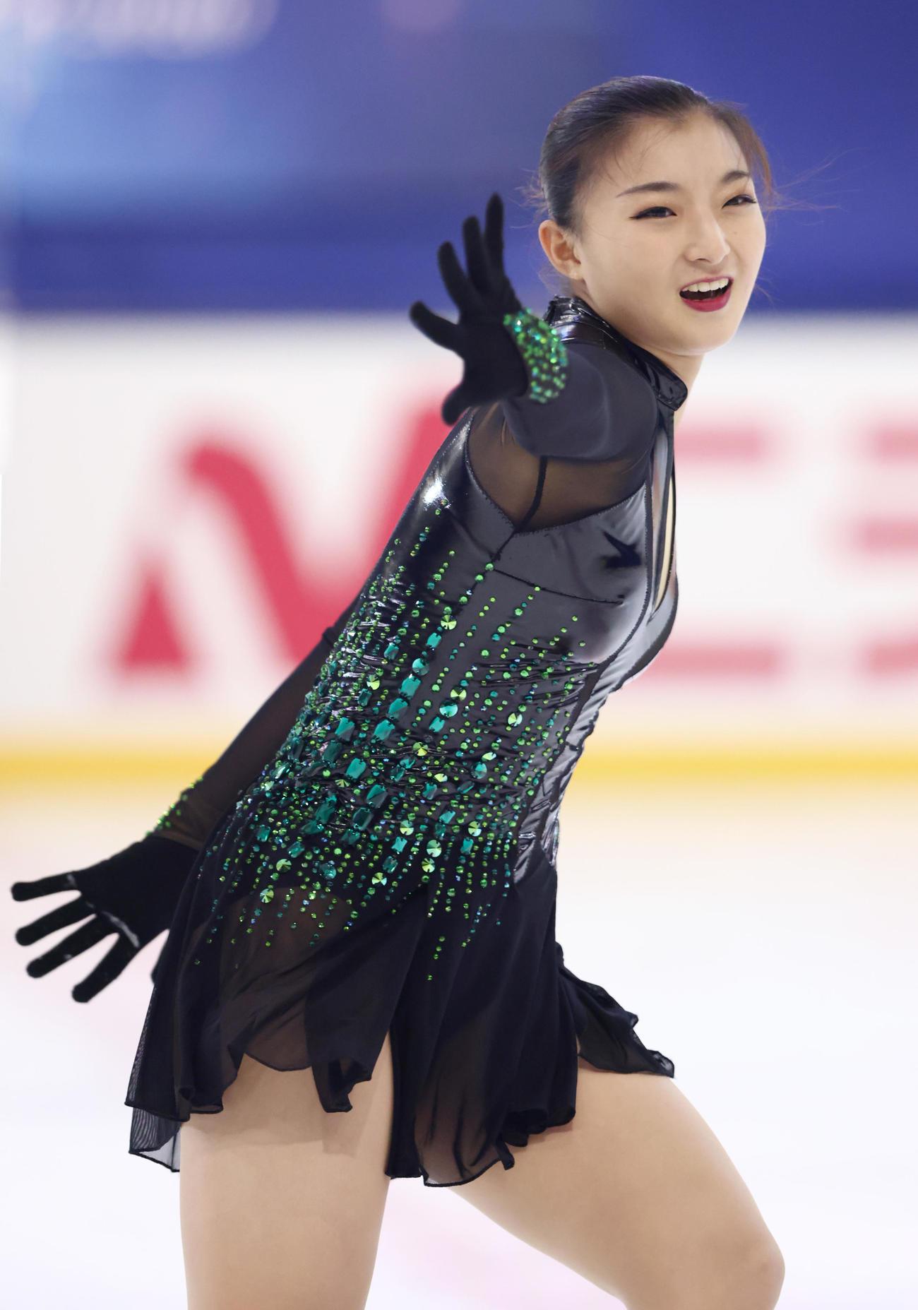 フィギュアスケート 「ドリーム・オン・アイス」 フリーを披露する坂本花織(代表撮影)