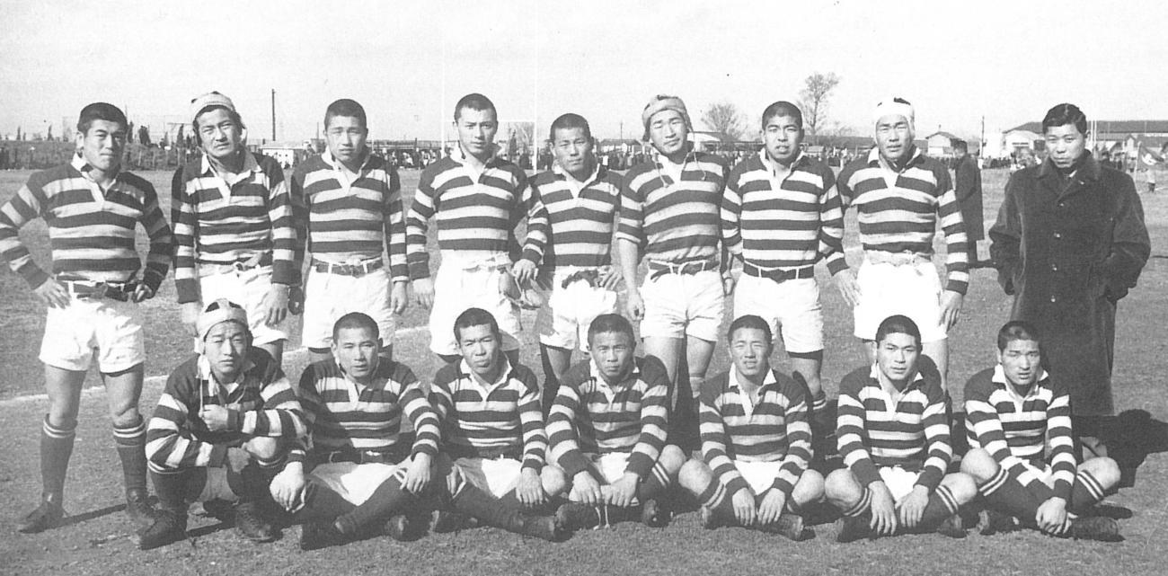 62年度の全国高校ラグビーで準優勝した北見北斗フィフティーン(蓑口一光氏提供)