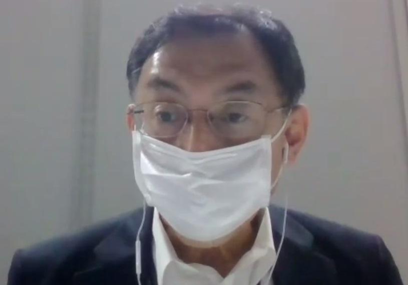 オンライン取材に応じる吉田行宏事務局長