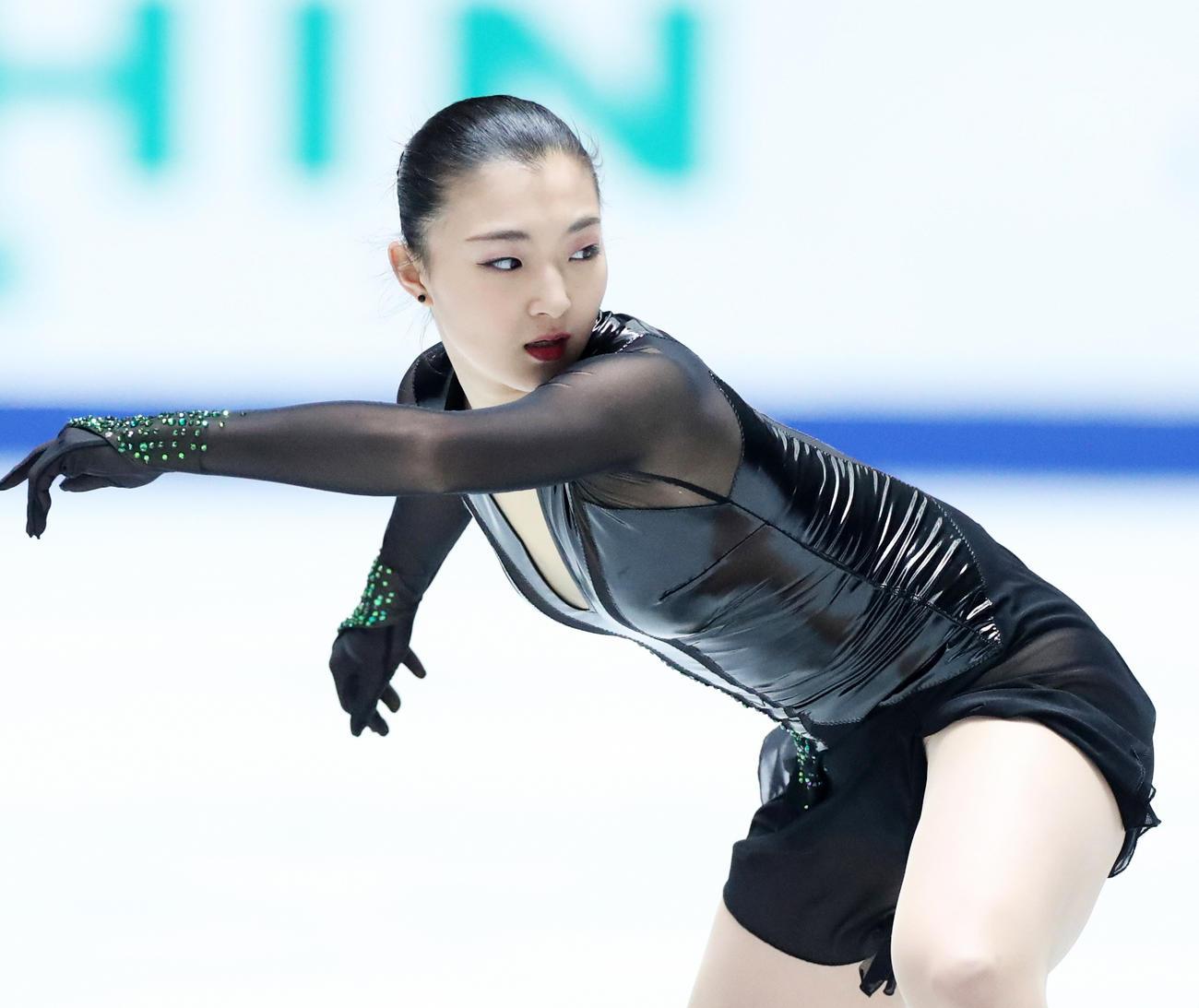 昨年の全日本選手権で6位に終わった坂本花織(2019年12月21日撮影)
