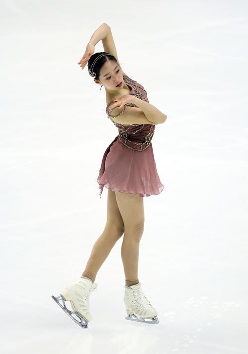 女子フリー 演技をするユ・ヨン(代表撮影)