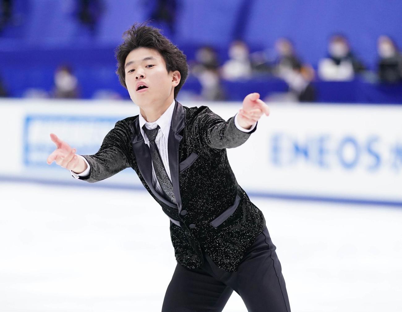 速報 フリー 男子 スケート フィギュア