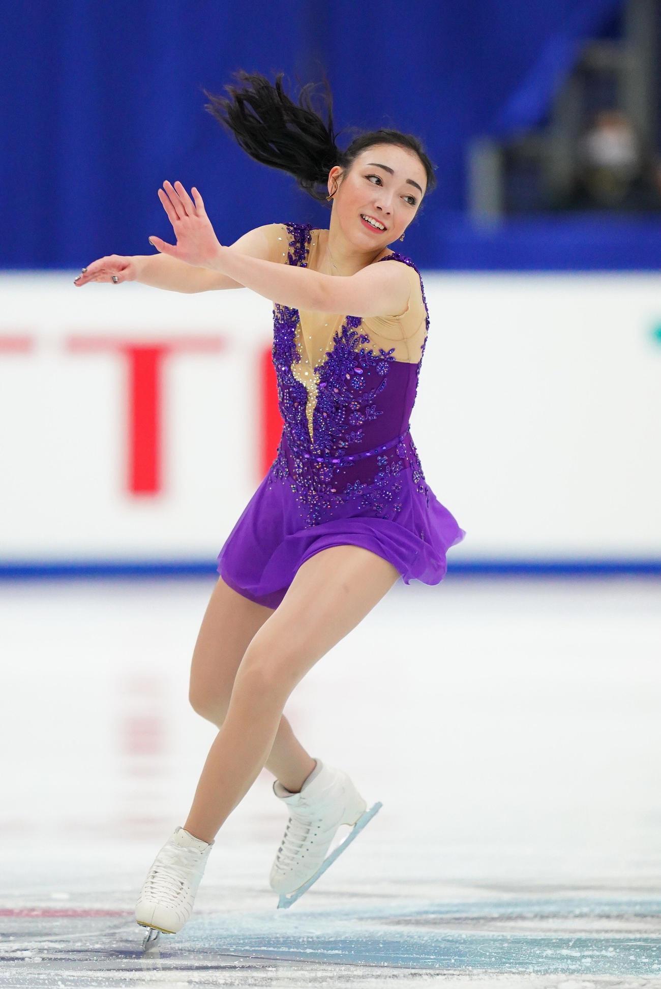 全日本フィギュアスケート選手権 女子SPで演技をする本郷(代表撮影)