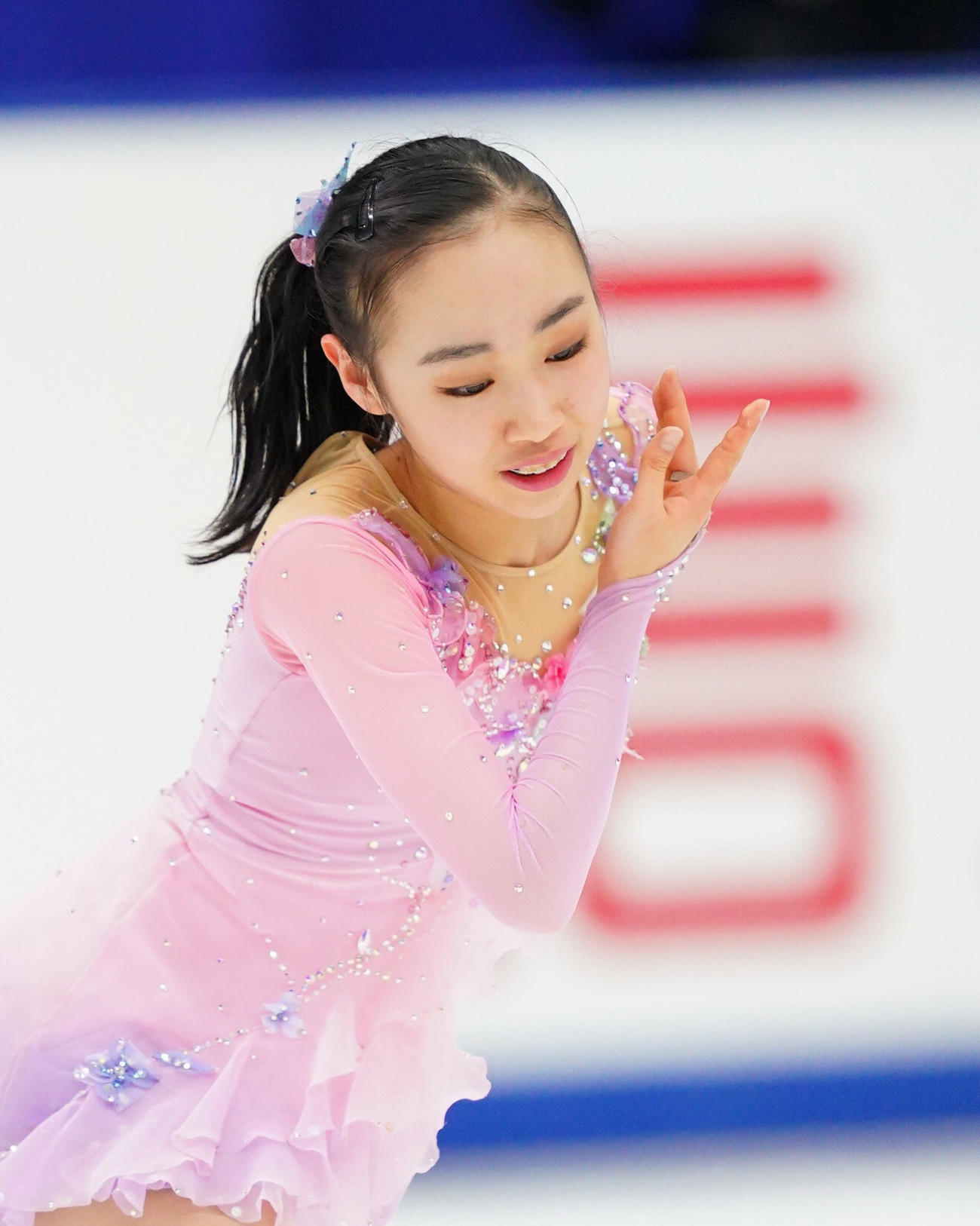 全日本フィギュアスケート選手権 女子SPで演技をする松生(代表撮影)
