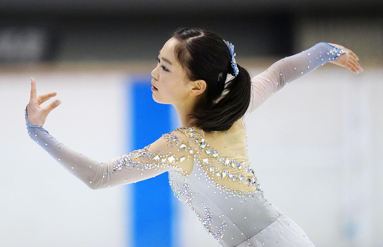 フィギュア少年女子 SPで2位の京都・吉田陽菜(代表撮影)
