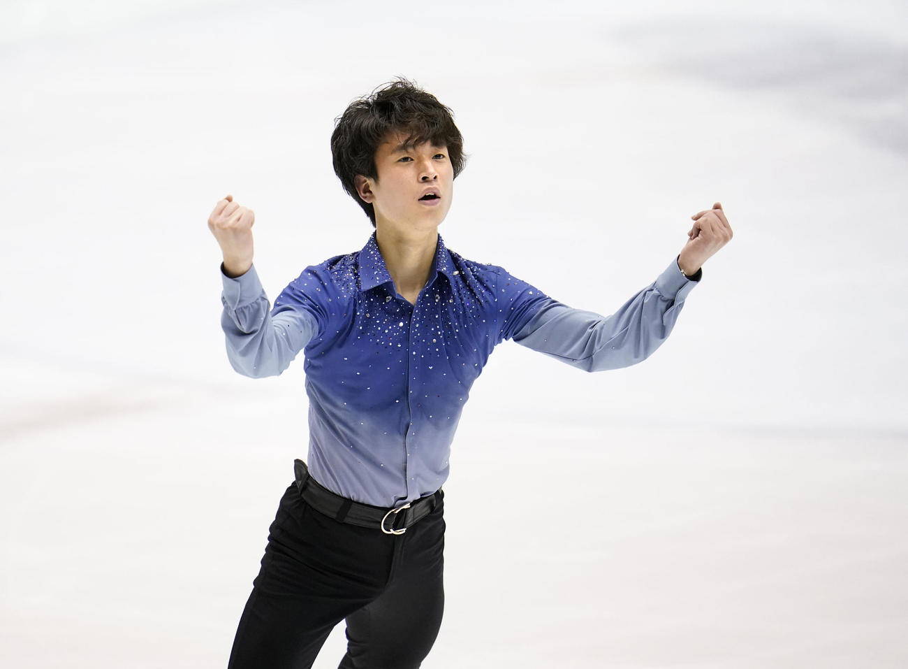 SPで3位の滋賀・本田ルーカス剛史(代表撮影)
