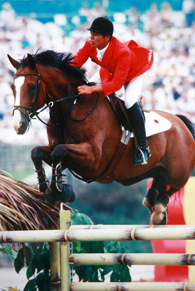 96年アトランタ五輪の馬術競技に出場した当時の白井牧場・白井氏