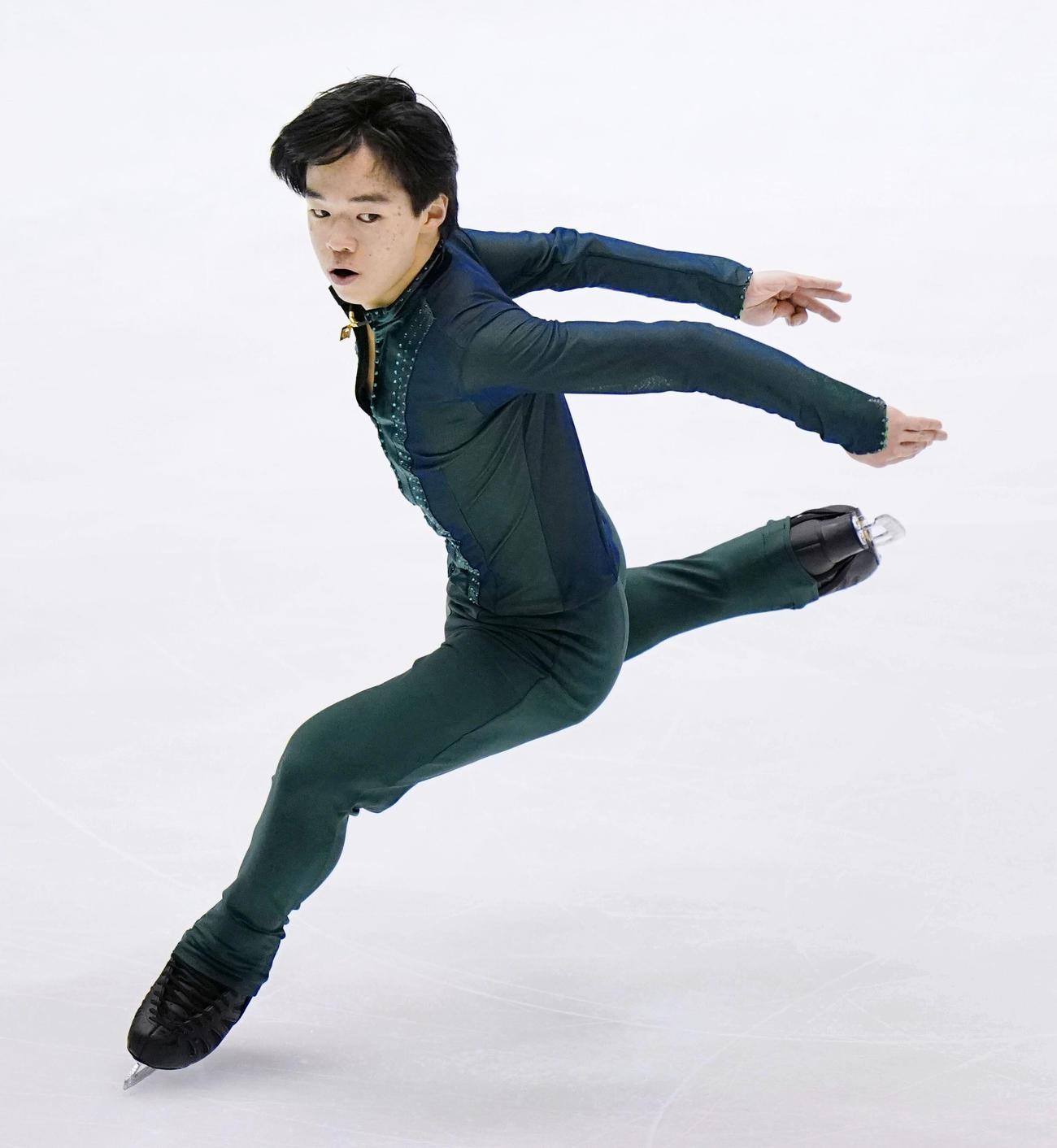 フィギュア少年男子で優勝した神奈川・鍵山優真のフリー(代表撮影)