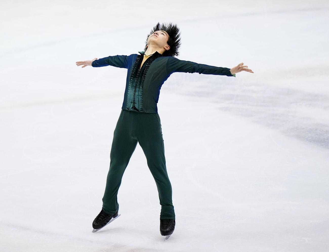 冬季国体2021 フィギュア少年男子フリー 優勝した神奈川・鍵山優真のフリー(代表撮影)