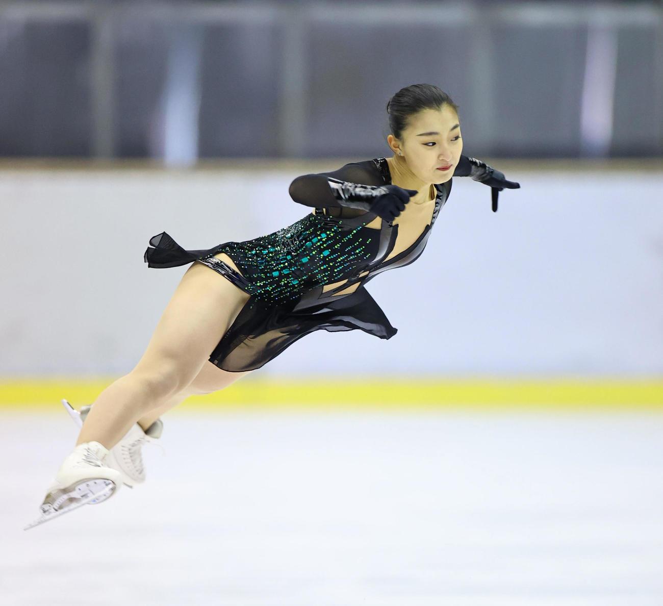 冬季国体2021 成年女子フリーで演技する坂本花織(代表撮影)