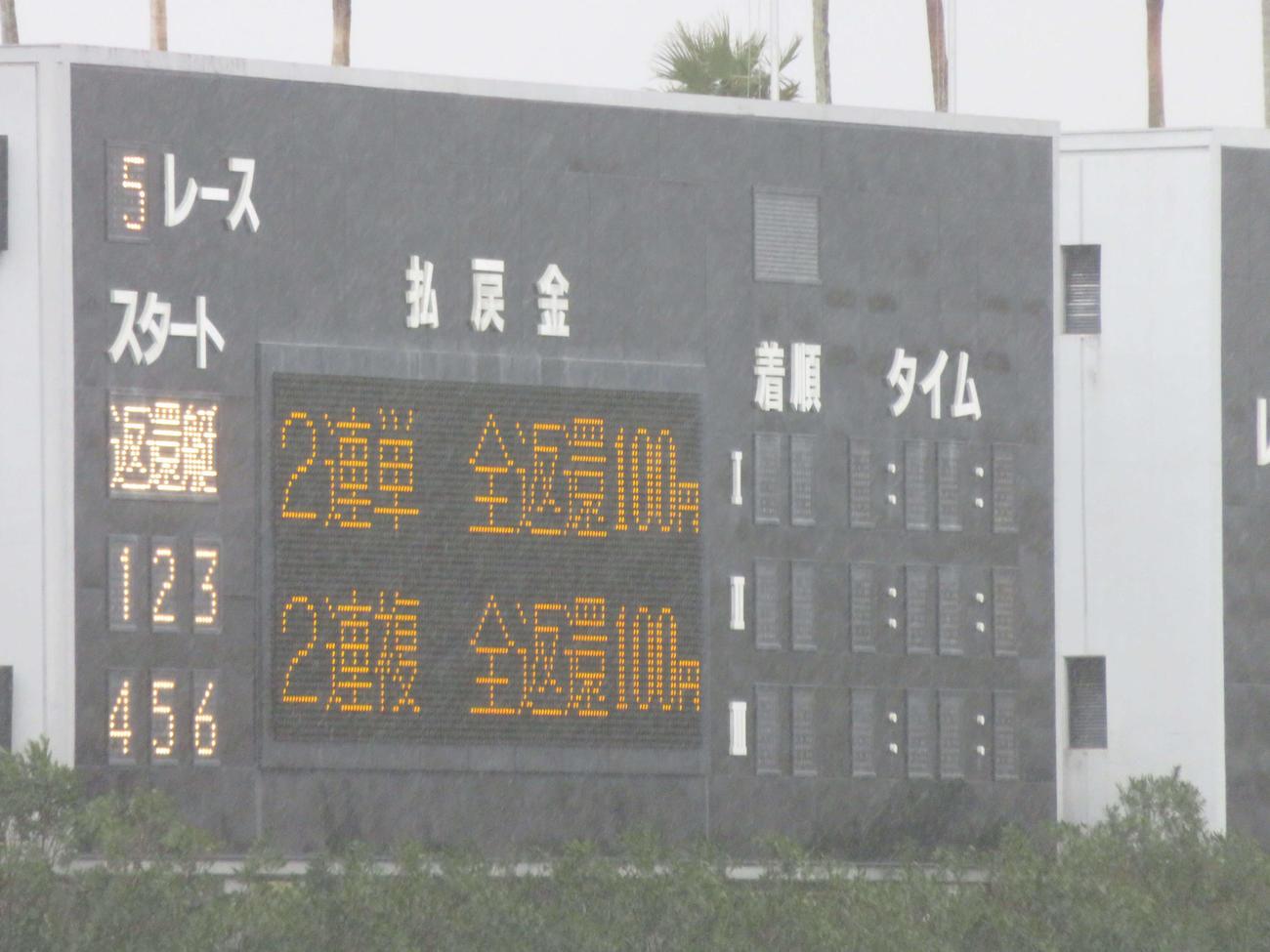 全艇Fで全額返還となった初日5R(撮影・窪寺伸行)