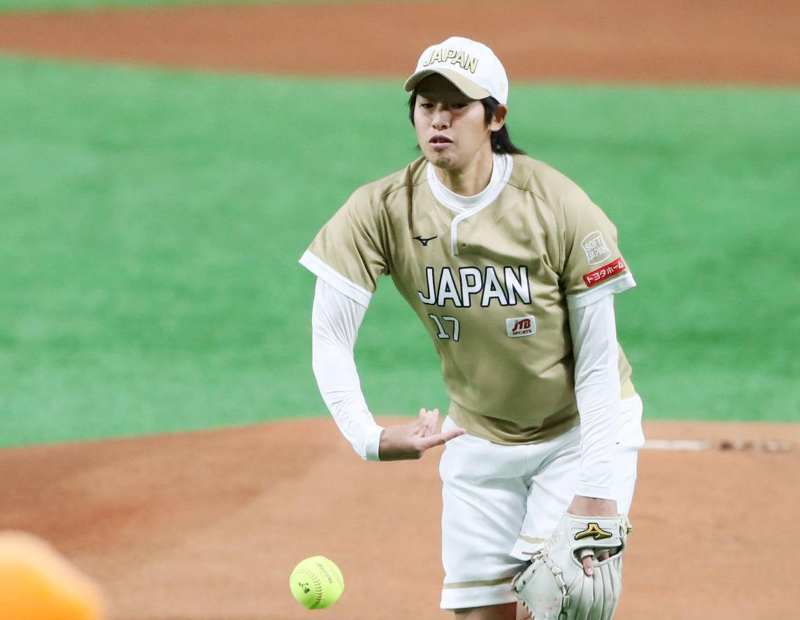 上野由岐子(19年4月4日撮影)