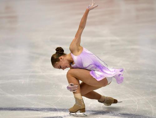 世界選手権女子SPに出場したアレクサンドラ・トルソワ(AP)