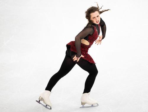 世界選手権女子SPに出場したジョセフィン・タイガード(ロイター)
