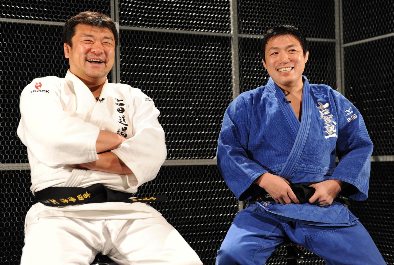 古賀稔彦さんと(右)と吉田秀彦氏(2010年撮影)