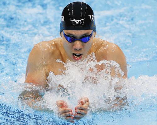 男子200メートル平泳ぎで3位の渡辺(代表撮影)