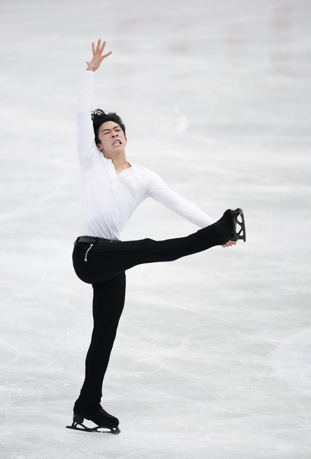 男子SPで演技するネーサン・チェン(代表撮影)
