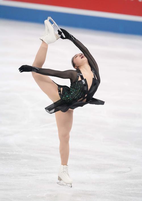 女子フリー 演技する坂本花織(代表撮影)