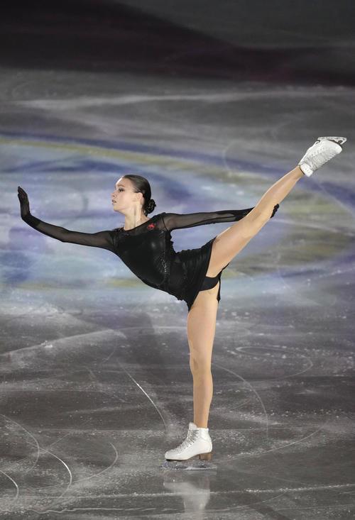 エキシビションで演技するアンナ・シェルバコワ(代表撮影)