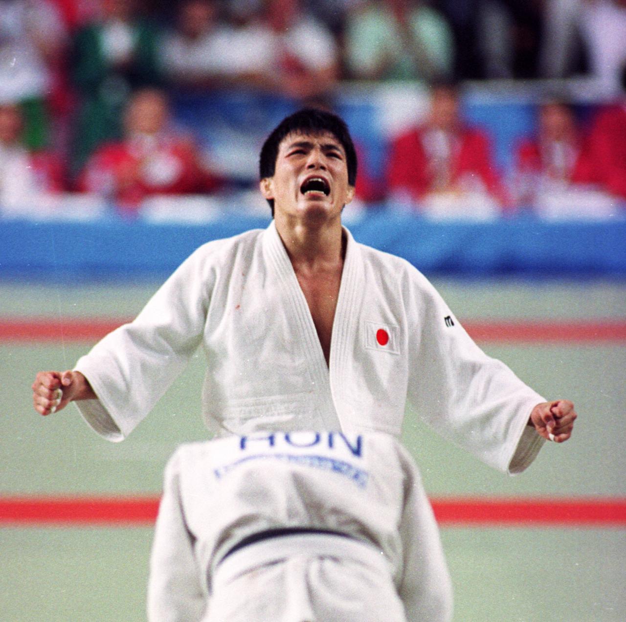 92年バルセロナ五輪、柔道男子71キロ級で金メダルを獲得した古賀稔彦さん