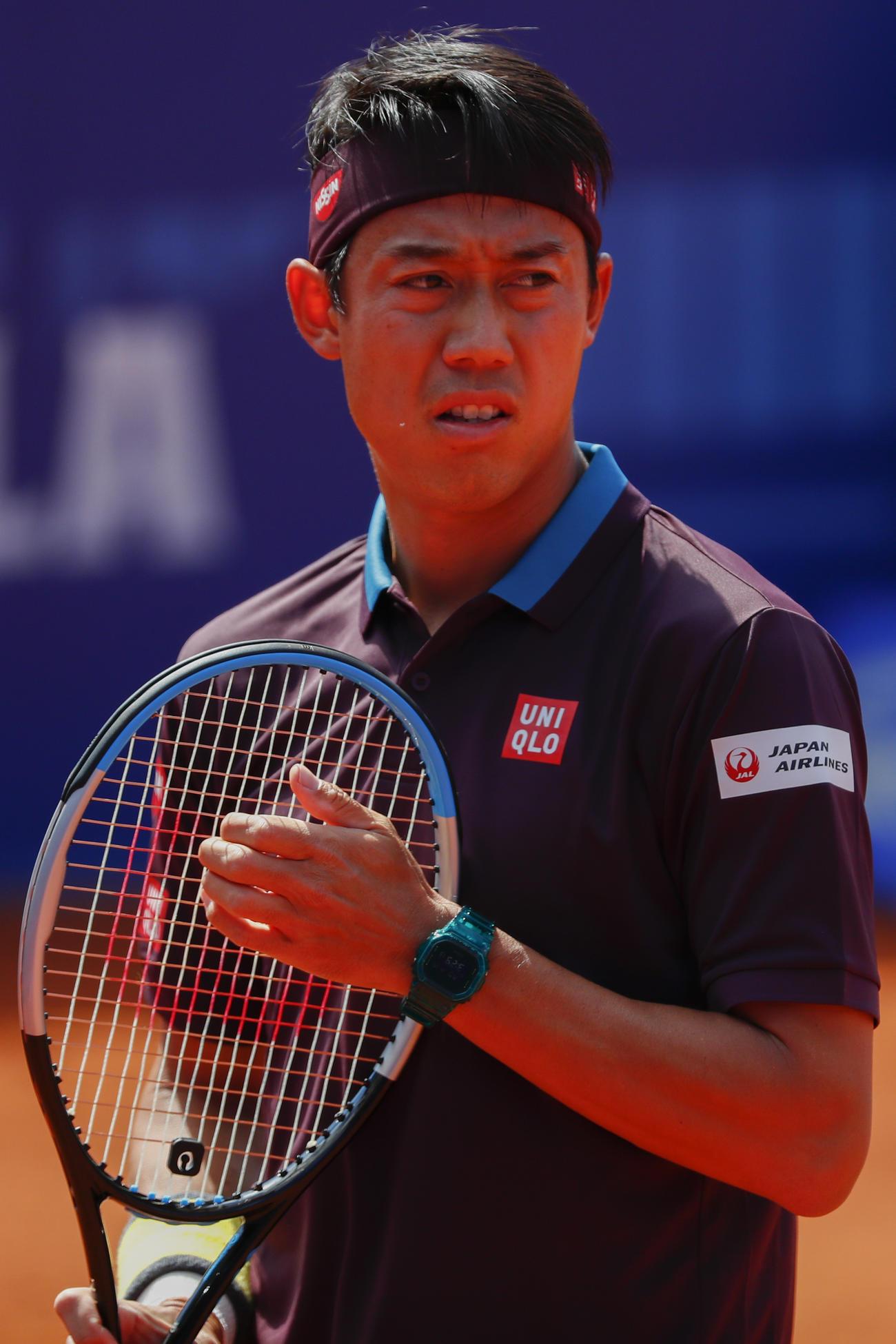 バルセロナオープン1回戦を突破した錦織圭(AP)
