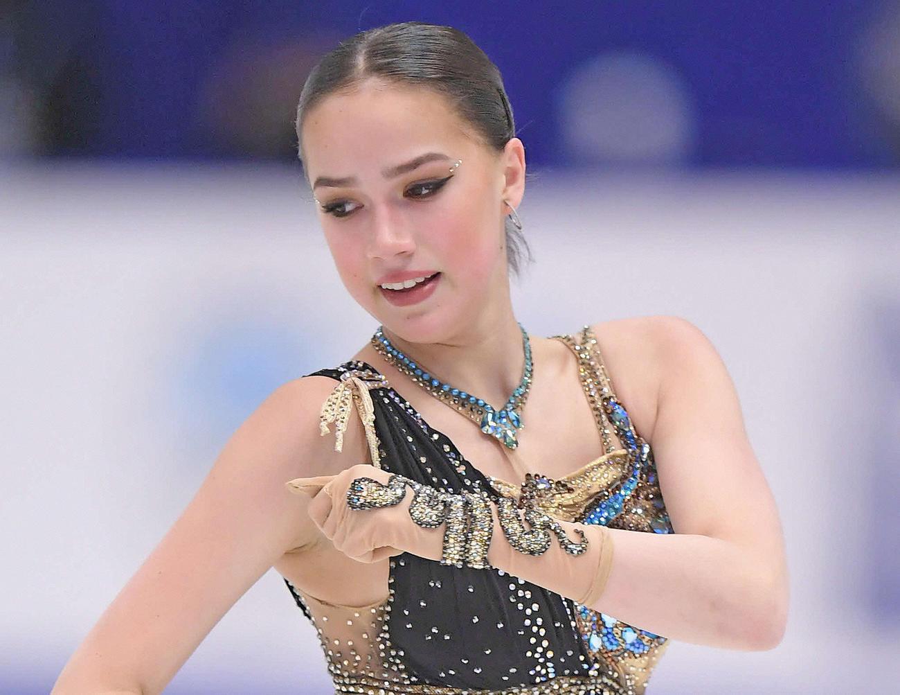 アリーナ・ザギトワ(2019年11月23日撮影)