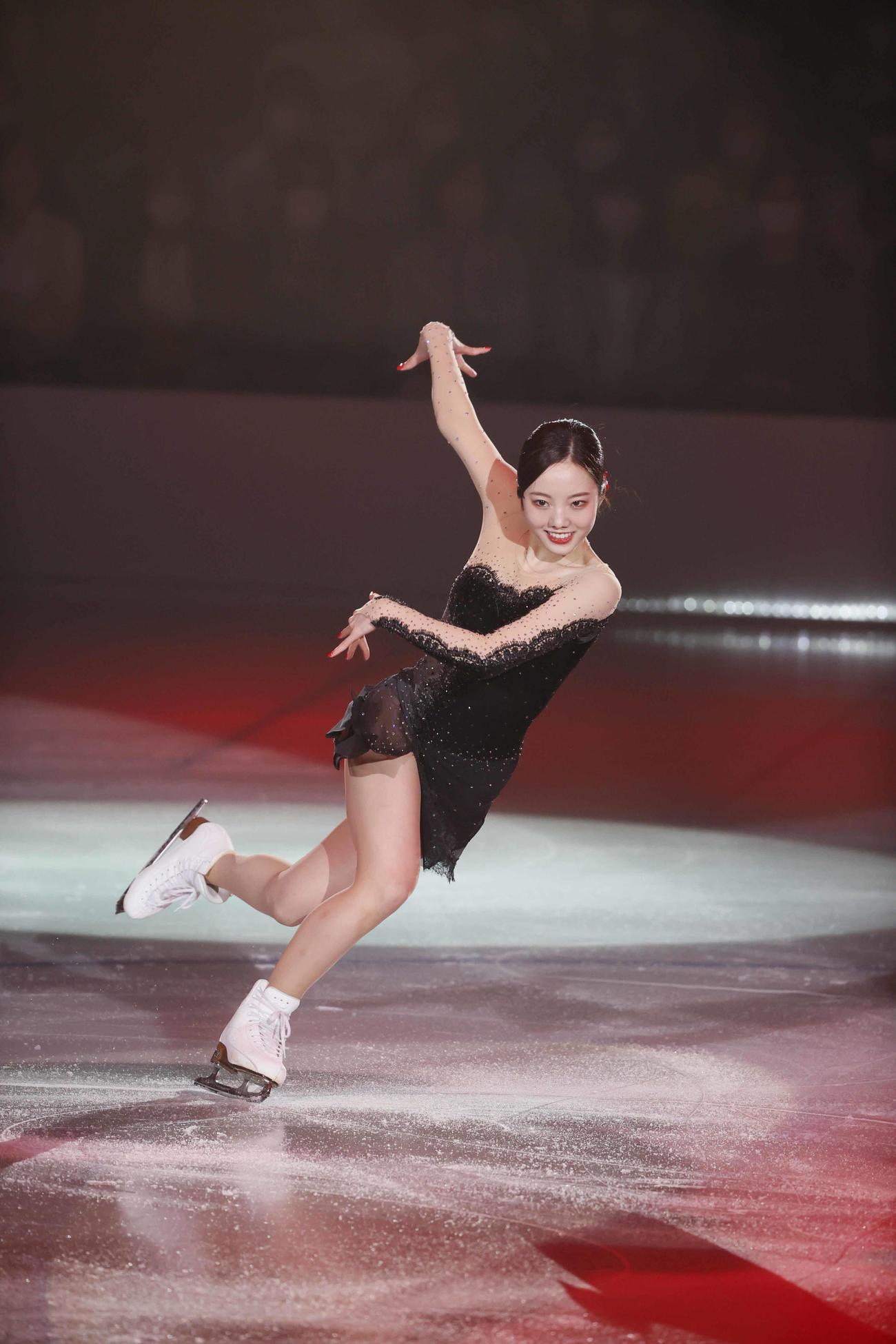 ザ・アイスで演技する本田真凜(C)THE ICE 2021/Koichi Nakamura