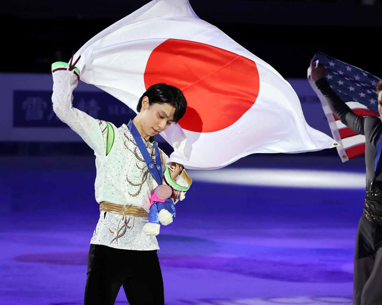 20年2月、フィギュアスケート4大陸選手権 初優勝の羽生結弦