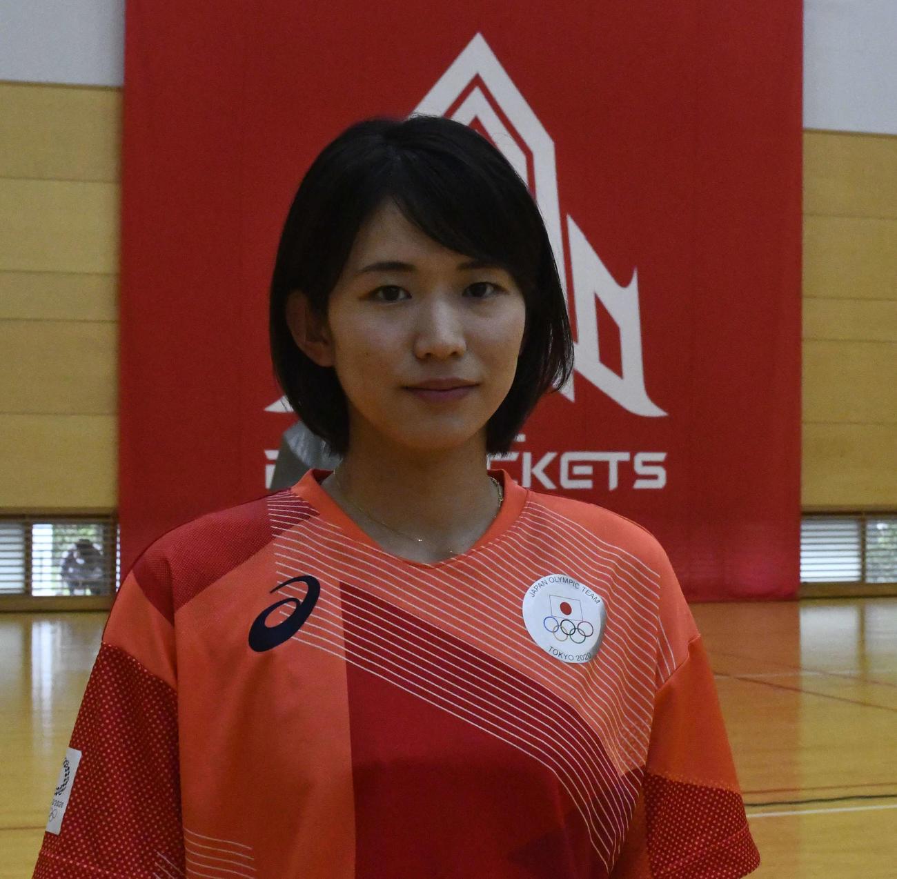 東京オリンピック(五輪)バレーボール女子日本代表の古賀(撮影・平山連)