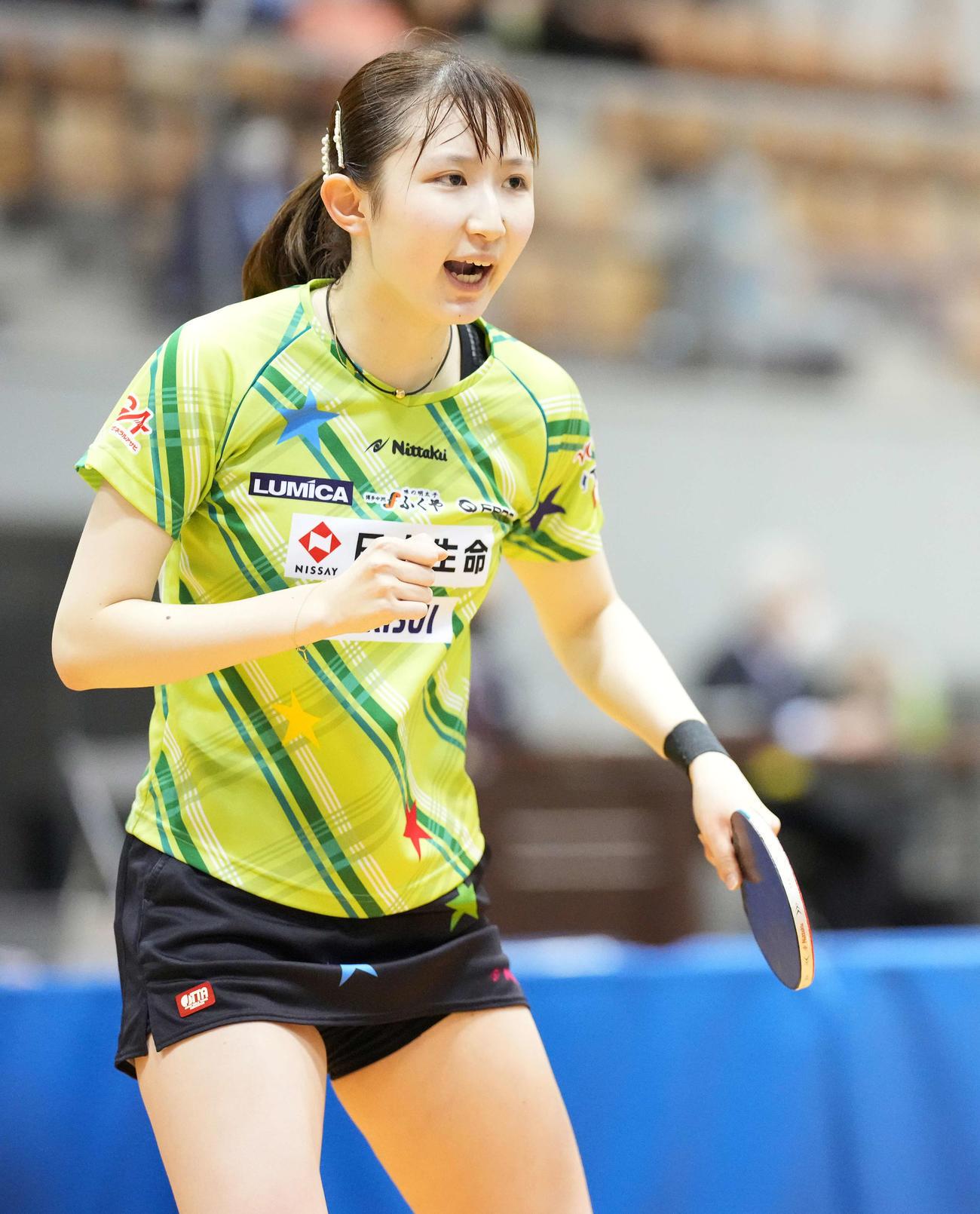 早田ひな(2021年6月18日)